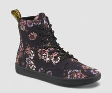 Dr. Martens Women's Hackney Black Wild Rose T Canvas Boots 15012003