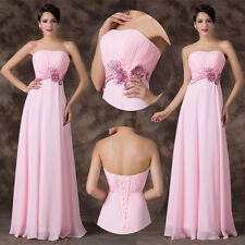 Beaded Sequins Long Formal Strapless Evening Prom Party Evening Cocktail Dresses