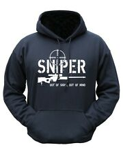 """Sniper - Out Of Sight, Out Of Mind"" Hoodie - Black"