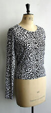 NEW WHITE LEOPARD CARDIGAN S M L XL PUNK PSYCHOBILLY CHEETAH ANIMAL TOP CARDI