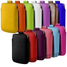 Leather PU Pull Tab Case Cover Pouch For HTC One Mini