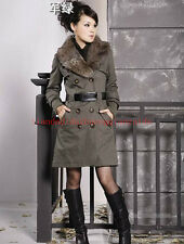 2014 new women's winter coat fur collar padded jacket Slim plus female 4colour