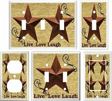 COUNTRY BARN STAR LIVE LOVE LAUGH HOME DECOR LIGHT SWITCH OR OUTLET COVER 684