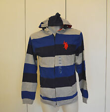 U.S POLO ASSN Boys Stripe Hoodie - Sizes 8, 10-12,14-16 & 18 - NEW