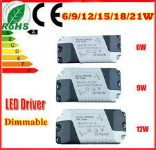 CE Power Supply  LED Driver Transformer 6/9/12/15/18/21W Bulbs Dimmable New!!