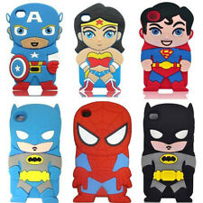 3D Cute Cartoon Super Hero Soft Silicone Cover Case For iPod Touch 4 Iphone 5G