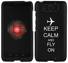 For Motorola Droid MINI XT1030 Rubber Hard Case Cover Keep Calm Fly On Airplane