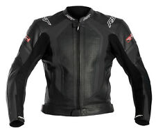 RST R-14 BLACK Leather Motorbike/Motorcycle/Scooter Cheap Sports Jacket 38-54