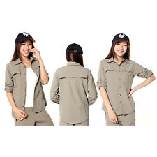 Hot Sale! Women Fast Dry Hiking Fishing Outdoor Shirt Anti UV Long Sleeve ABUS