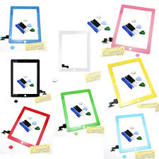 Touch Screen Digitizer Glass Repair w/ Home Button Adhesive for iPad 2 Tools*8