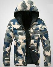Hot new Men's Hooded Camouflage down cotton coat technical Padded jacket