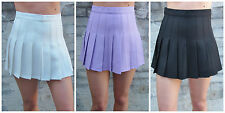 American Apparel Style Tennis Skirt Black White Lilac Pleated Circle