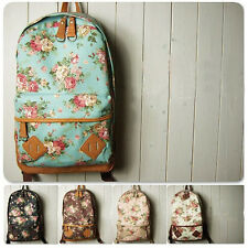 Hot Korean Women Girl Vintage Floral Bag Schoolbag Bookbag Backpack Rucksack