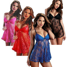 Sexy Lingerie Sets Intimate Sleepwear Night robe Chemise Dress Babydoll G-string