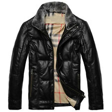 Real Sheepskin Leather Jacket Mens Down Coat Garment Outfit Removable Outwear