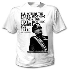 BENITO MUSSOLINI QUOTE ITALY WWII -NEW AMAZING GRAPHIC TSHIRT- S-M-L-XL-XXL