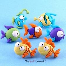 Funky Cartoon Fish Stud Earrings Girls Retro Cool Kitsch Quirky Gift Cute Sweet