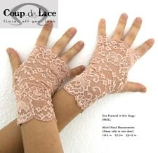 NEW Fingerless Lace Glove Pair in PINK NUDE - Available in S/M/L