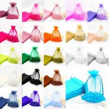 "100pieces 5""x6""Wedding Organza Favor Bags Party Decoration Gift Candy Pouches"