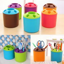 Multicolor Toothbrush Toothpaste Pen Stationery Organizer Container Holder Cup