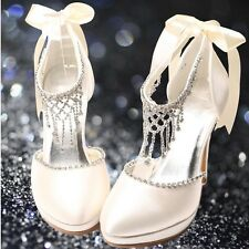 Wedding shoes size 3 4 5 6 7 Gorgeous white or ivory crystal shoes