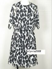Moschino Cheap Chic silk chiffon dress leopard print