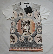 Dolce Gabbana Coin Printed Cotton Jersey White T-shirt D&G New Collection NWT