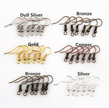 Wholesale 100pcs Earring Hook Coil Ear Wire For Jewelry Making Findings