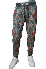 NEW MENS NWT Jordan Craig Floral Print Jogger Sweats Orange Haze S-XL