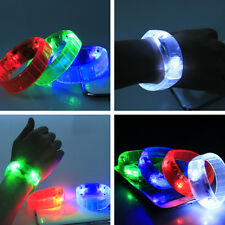 Hot Colorful Controlled Voice LED Light Up Bracelet Bangle Wristband Party Disco