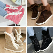 new fashion sweet women's flat base shoes lace-up keep warm snow boots Two wear