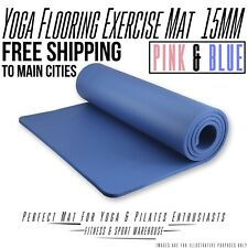 Free Postage Brand New Super Thick 15mm NBR Yoga Gym Pilate Mat Non-Slip