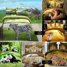 Four Pieces Fashion Cotton 3D Animals Bedding Sets Sham Sheet Duvet Cover SJTb7