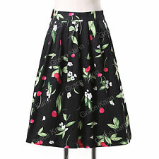 Vintage Rockabilly Retro Swing 50s 60s Pin up Housewife Dress Romantic Skirts
