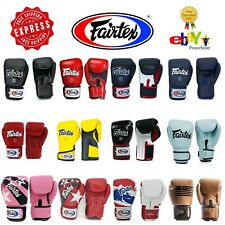 Fairtex Gloves for Muay Thai Kick Boxing MMA K1 8 10 12 14 16 oz BGV1 BGV5 BGV6