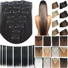 "16"" 18"" 20"" 22"" 24"" 26"" 28"" 30"" Full Head Clip In Remy Human Hair Extensions"