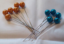 72 x Oasis Pearlised Craft Hat Pins, ideal for Florist, Wedding, Craft, Flowers