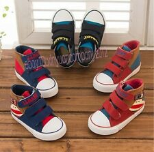 Kids boys Girls Children Canvas Casual Slip on Cartoon Shoes Single shoes TT49