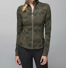 NWT Lululemon Forme Jacket II Camo Savasana Fatigue Green 2 4 6 8 10 12 RARE!