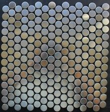 """ PENNY "" stainless steel mosaic tile backsplash tiles kitchen bar wall tiles"