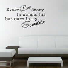 EVER LOVE STORY WALL QUOTE STICKER TRANSFER DECAL huge removable vinyl uk QU9