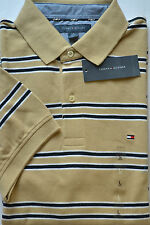 NWT Tommy Hilfiger Mens Short Sleeve Stripe Polo Shirt Multicolor Large
