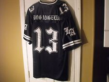 NAVY BLUE LOS ANGELES 13  LOW RIDER, SURENO, CHOLO, CHICANO, SOUTH SIDE  JERSEY.