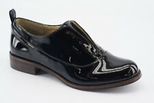 NEW Splendid Orlando Black Patent Leather Laceless Oxfords Flat Shoes