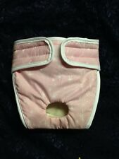 Female Diaper Light Pink Sparkle with Stars   XXS XS S M You Choose Size