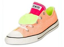 Converse Chuck Taylor Kids Low Top Double Tongue 637348F Sz12-6Y Fast Shipping