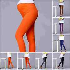 Fashion Womens Stirrup Leggings Multicolor Cotton Maternity Outdoor Casual Pants