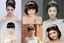 Wedding Bridal Crystal Rhinestone Crown Headband Jewelry Tiara Hair Comb Clip