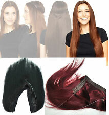 Indian Remy Flip In Human Hair Extensions No Clip In Invisible Wire Drawstring