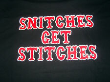 """HELLS ANGELS SUPPORT T-SHIRT """"stitches"""""""